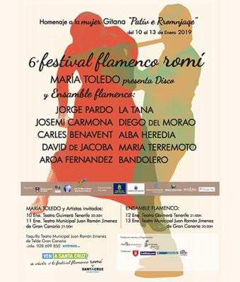 VI FESTIVAL FLAMENCO ROMÍ, ENSAMBLE FLAMENCO con la banda de JORGE PARDO Y MARÍA TERREMOTO