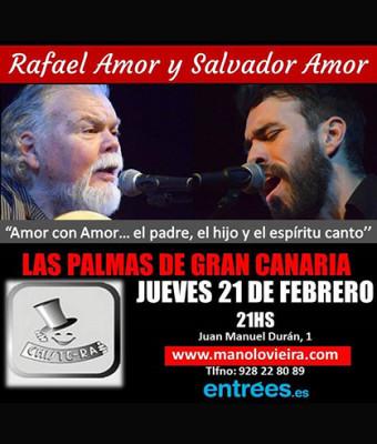 Rafael Amor y Salvador Amor con Manolo Vieira