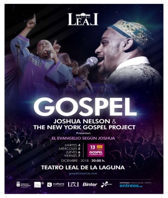 GOSPEL CANARIAS FESTIVAL 2018 - JOSHUA NELSON & THE NEW YORK GOSPEL PROJECT