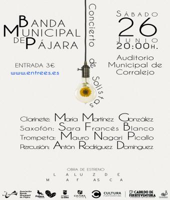 Concierto de solistas Banda Municipal de Pájara