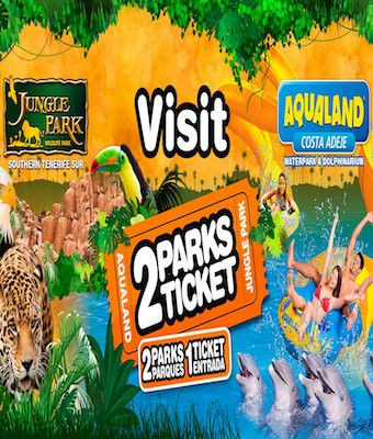 2Parks ticket - Jungle Park y Aqualand Costa Adeje