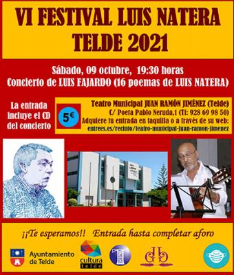 CONCIERTO DE LUIS FAJARDO - VI FESTIVAL LUIS NATERA TELDE 2021