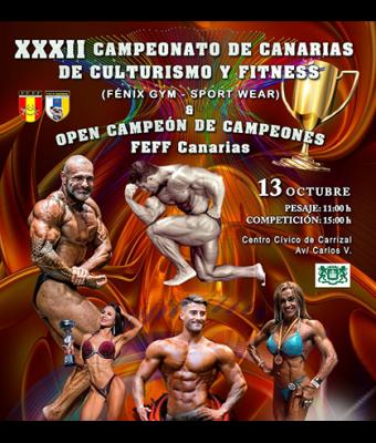 XXXII CAMPEONATO DE CANARIAS DE FISICOCULTURISMO Y FITNESS FEFF Canarias, FEFF e IFBB