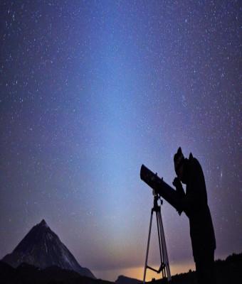 Observación astronómica en el Teide