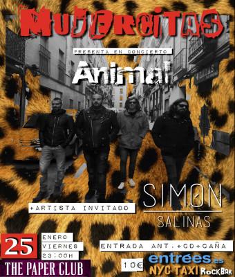 """Mujercitas presenta """"Animal"""" + Simón Salinas"""