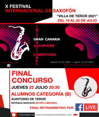 Final Gran Canaria International Saxophone Competition 2021 (Categoría B)