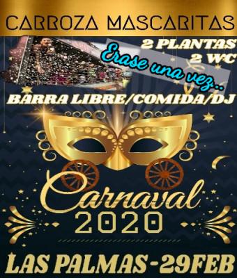 Carroza Mascaritas Cabalgata Carnaval Las Palmas 2020