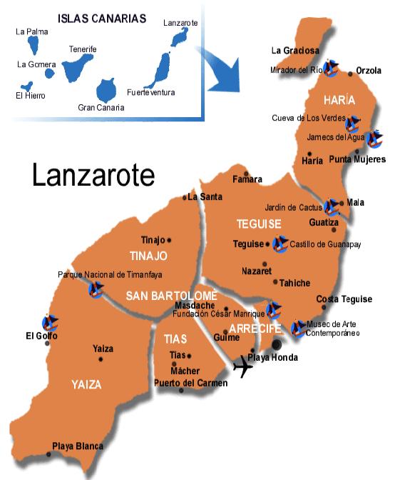 Mapa De Fuerteventura Municipios.Entradas Lanzarote Fuerteventura Individual Entrees Es