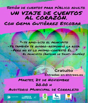 Un viaje de cuentos al corazón uentos para adultos con Gema Gutiérrez