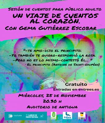 Un viaje de cuentos al corazón cuentos para adultos con Gema Gutiérrez