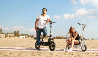 beach electric scooters