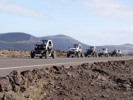 Ruta por Timanfaya en coche eléctrico
